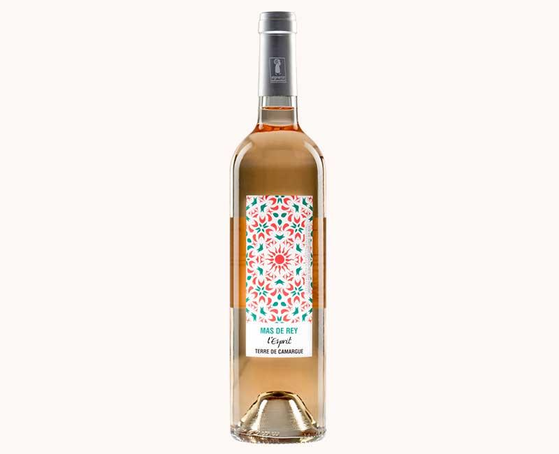 Montrer la vue de face du vin rosé Esprit du Domaine du Mas de Rey