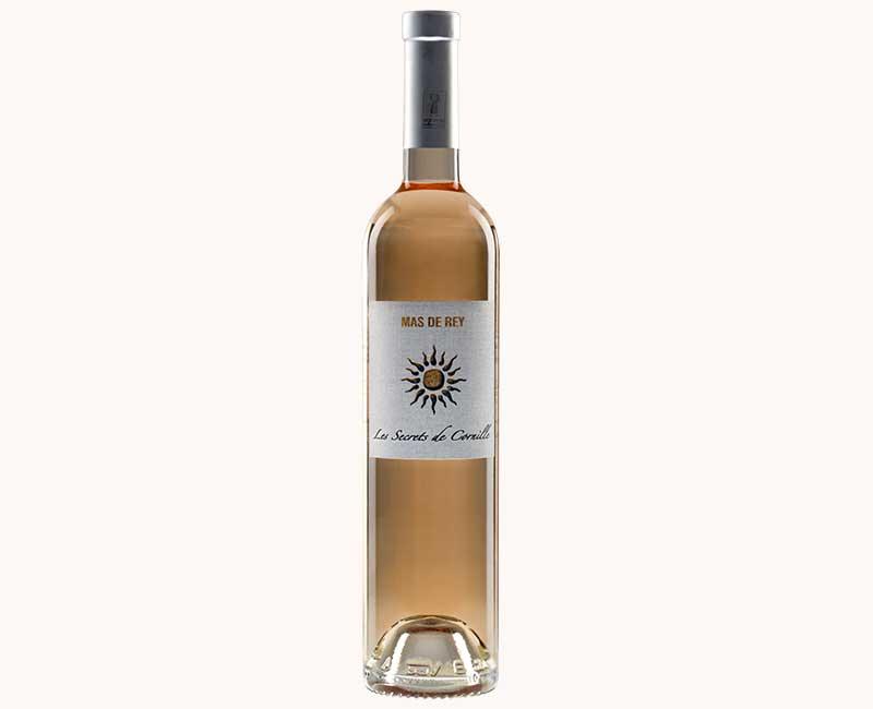 Montrer la vue de face du vin rosé Secrets de Cornille du Domaine du Mas de Rey